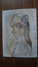 """Peinture abstraite acrylique """"Une Demoiselle d'Avignon"""" C.Chauvin artiste cotée."""