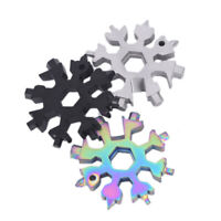 EDC Tool 19-In-1 Snowflake Shape Multi-tool Card Combination Compa PYMR