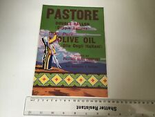 Pastore Double Gallon   U.S.A. Vintage Olive Oil Advertising Crate Label 49276