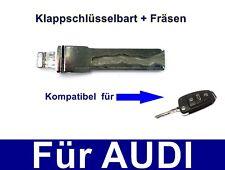 Ersatz KlappSchlüssel bart mit Fräsen für AUDI A3 A4 A5 A6 A8 Q3 Q5 Q7 TT