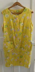 Vintage 60s Yellow Flower Power Mini Dress
