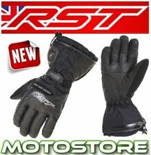 Winter Heated Leather & Textile Motorcycle Gloves