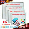 Magnetic Whiteboard Small Large White Board Dry Wipe Notice Home Office School