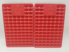 Vintage Jello Beans Jiggler Jelly Bean Mold Lot of Two - Red Jello Shooters