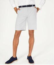 "Alfani Men's Alfatech Stretch Waistband 9"" Shorts Grey Heather 38 $55"