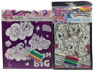 New Lot of 2 my little pony colorups poster glow In dark rainbow power Dream Big