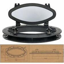 Boat Yacht Elliptical Oval Portlight Porthole 16''X8-5/8''Replacement Window AM