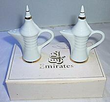 VINTAGE EMIRATES PATE DE LIMOGES ARABIC COFFEE POT SALT & PEPPER POT CRUET SET