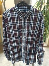 Men's Fred Perry Long Sleeved Checked Chequered Shirt Size XXL