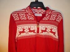 Breckenridge Ladies Holiday Pullover Sweater Size M Color Red NWT MSRP $76