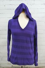 Under Armour Victory Hooded Long Sleeve Shirt HeatGear Shirt Semi Fitted Striped