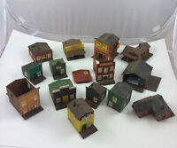HO Scale Built Kibri Old West Town Buildings Lot Vintage Hotel Store Shop