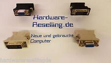 1x DVI VGA Adapter, DVI-I Stecker 24+5pol. => 1x VGA-Buchse black or grey