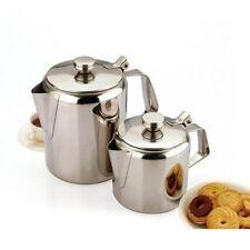 100% STAINLESS STEEL TEA POT KETTLE MIRROR FINISH COFFEE POT HOT WATER JUG NEW