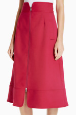 Sea Zip Front A-Line Skirt Fuchsia 6 NWT $385