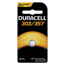 5 X Duracell Button Cell Silver Oxide Calculator/ Watch Battery 303/357, 1.5V