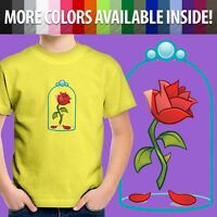 Beauty & Beast Enchanted Rose Flower Disney Emoji Toddler Kids Tee Youth T-Shirt
