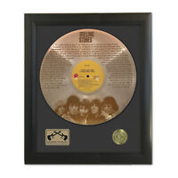 Rolling Stones It's Only Rock N Roll Laser Etched Gold LP Record Framed Display