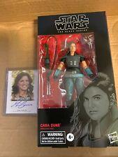 Star Wars The Black Series Cara Dune and 2012 Pop Century Gina Carano Auto Card