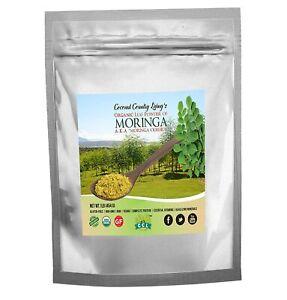 Oganic Moringa Leaf Powder Raw 1 lb – Premium Superfood Gluten-free