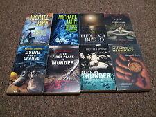 COZY MURDER MYSTERIES 8 books BY MICHAEL JAHN , KATHLEEN DELANEY Plus others