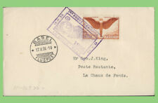 Switzerland 1926 75c Airmail on Le Locle- Basle, cachet cover