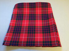 Fraser Red Tartan Baby Kilt  0-3 m to 2-3 years (Waist & Length Sizes Given)