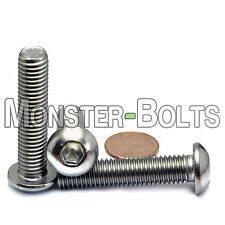 10mm x 1.50 x 45mm - Qty 10 - A2 Stainless Steel BUTTON HEAD Screws M10-1.5 x 45