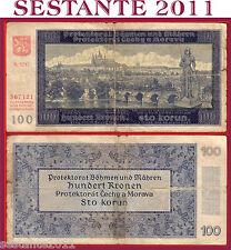 BOHEMIA & MORAVIA - 100 KRONEN / KORUN  20.8. 1940   -  P 7a  -  BB  / F
