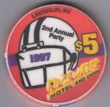Edgewater Hotel Casino $5.00 Superbowl Party 1997 Casino Chip Laughlin Nevada