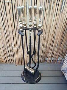 4 Piece Wrought Iron Fire tool set
