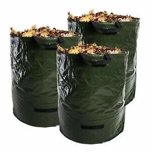 3x Heavy Duty Garden Reusable Waste Leaves Bags 120L Waterproof Refuse Sacks