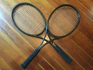 Tecnifibre 315 Limited LTD DC 16x19 pair (2) blacked out tennis racquets – 4 1/2
