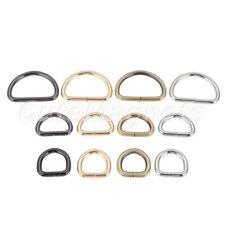 2/10Pcs Metal Handbag Leather Bag Purse Strap Belt D Ring Buckle Clasp 3 Sizes