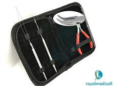 Micro Rings Loop Hair Extensions Pliers Hook Tool Kit Curved Nose Pliers UK