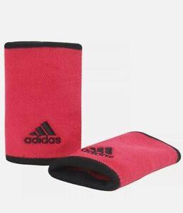 adidas Tennis Wristbands Sports Badminton Sweatband PowPink Racket 2 PC , OSFM