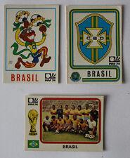 PANINI WORLD CUP'74 1974-MUNCHEN MONACO Brasil/BRASILE ULTRA RARA