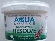 Aqua Source Blanketweed Resolve.Free P&P Fast Acting Blanket Weed Treatment.500g