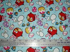 Cotton Fabric Angry Birds by Rovio EASTER  game  BTY