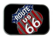 Boucle de ceinture route 66 drapeau US américain.