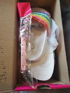 New with Box Lelli Kelly Iris Rainbow  UK 11, 1 EU 31,33 Glitter Sliders RRP £27