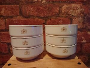 ROYAL DOULTON GOLD CONCORD SOUP PLATES x 6