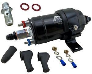 Hi Flow 380LPH Inline EFI External Fuel Pump & Bracket Kit 6AN AN6 Fittings 044