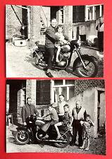 2 x Foto Motorrad mit Typen    ( 8048