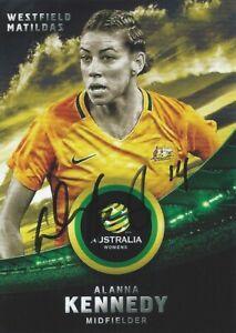 ✺Signed✺ 2016 2017 MATILDAS Card ALANNA KENNEDY Australia World Cup W-League