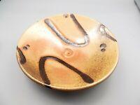 """Vtg Don Sprague Studio Pottery Footed Dish Bowl 9 1/2"""" Pedestal Oregon NW Signed"""