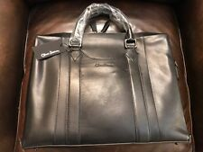 Oliver Sweeney Exeter Black Leather Laptop Bag Portfolio