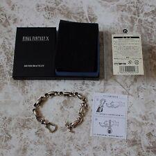 Final Fantasy X SQUARE ENIX Official Sterling Silver Bracelet Tidus w/Manual