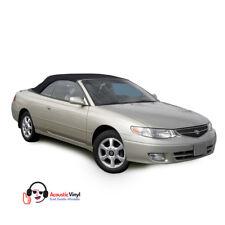 Fits: 1999-2003 Toyota Solara Convertible Top, Black Trilogy Vinyl, Glass Window