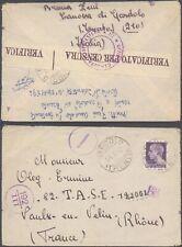 Italy WWII 1942 - Cover to Vaulx-en-Velin France - Censor D51